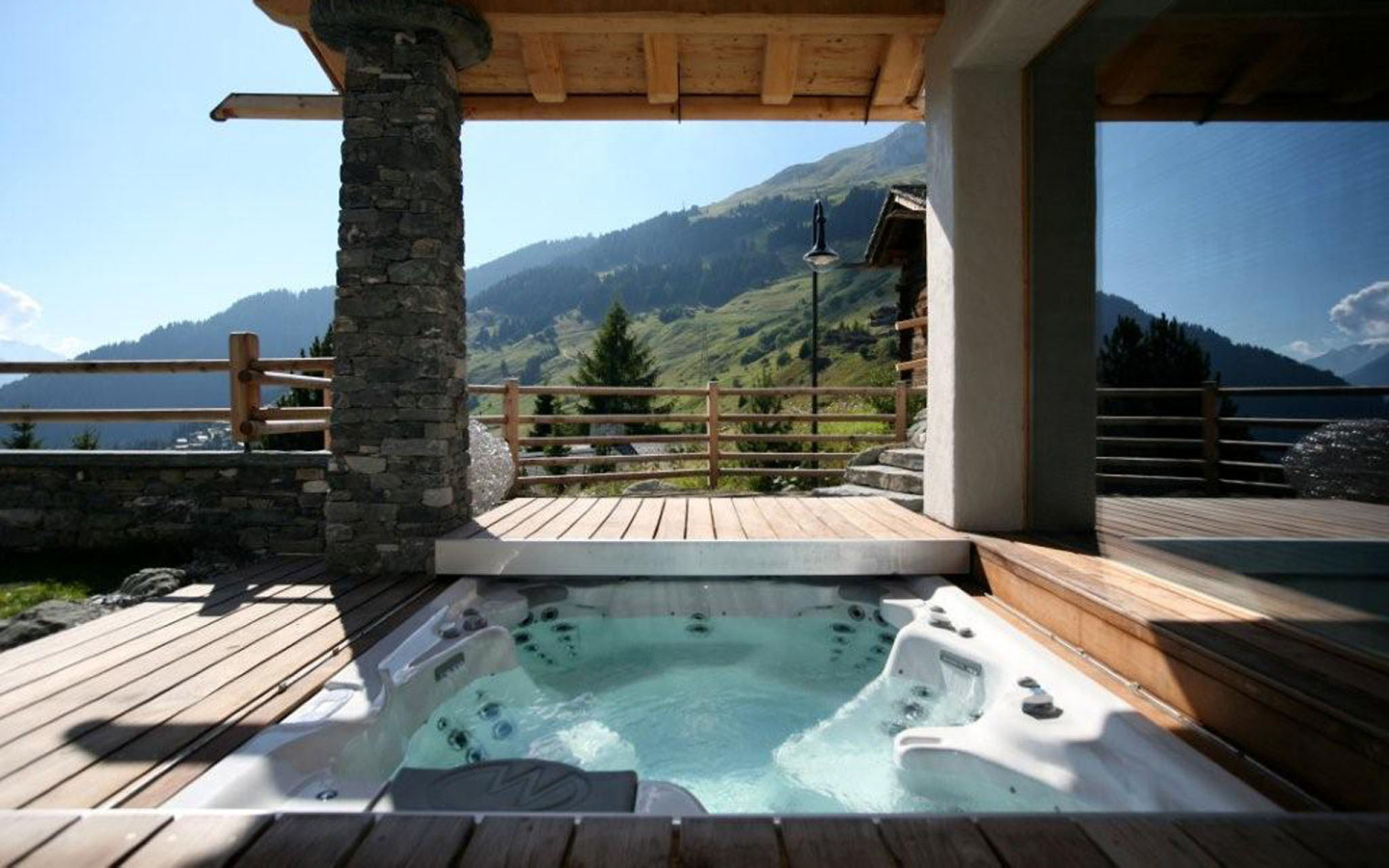 Open air Hot tub Chalet Spa Verbier