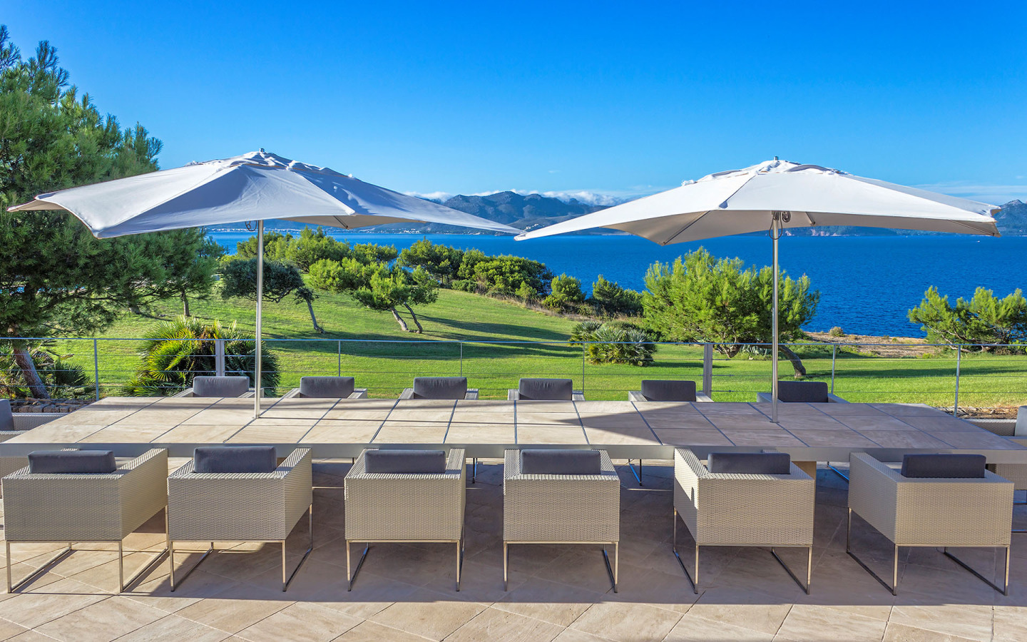 Castell De Manresa Estate features full outdoor dining space