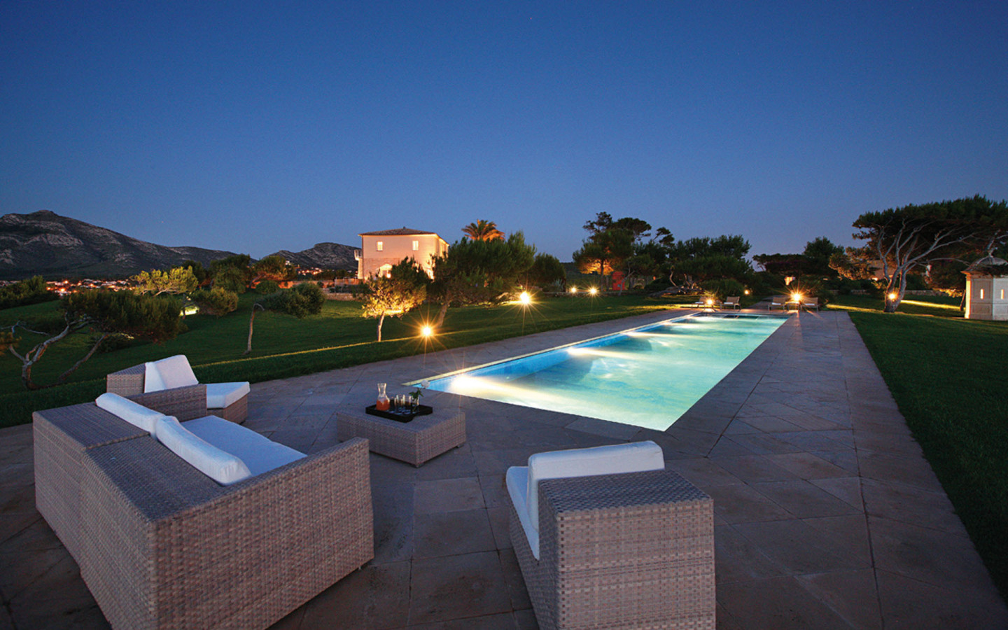Poolside at Castell de Manresa