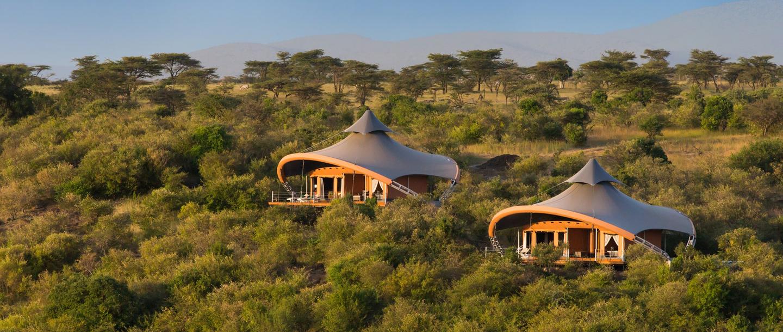 MahaliA tent at the Mzuri Game Viewing Safari in Kenya