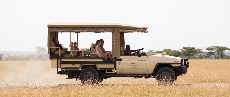 Private guided tours at the Mahali Mzuri Game Viewing Safari in Kenya