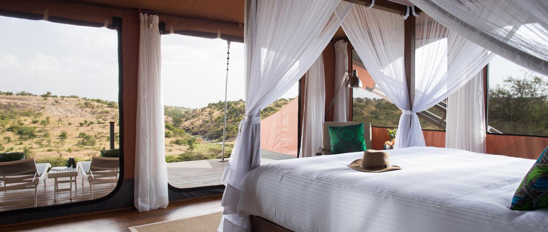 Mahali Mzuri Game Viewing Safari in Kenya features luxury accommodations