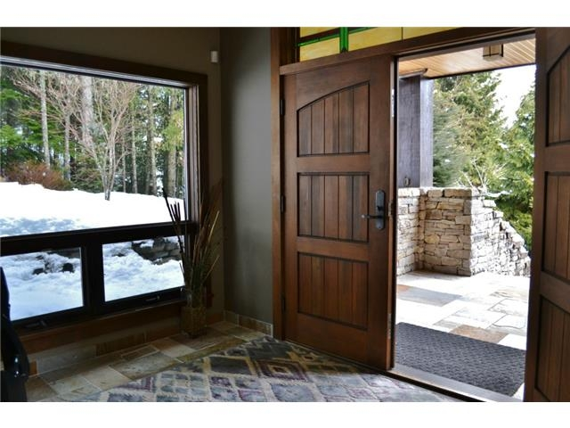 Luxury 6 bedroom chalet in Whistler entry way to Tree Top Lane
