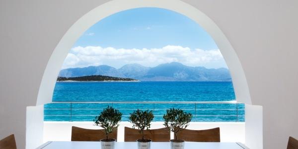 Minos Beach Art Hotel presidential villa veranda