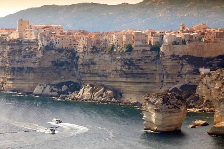 Corsica bonifacio town
